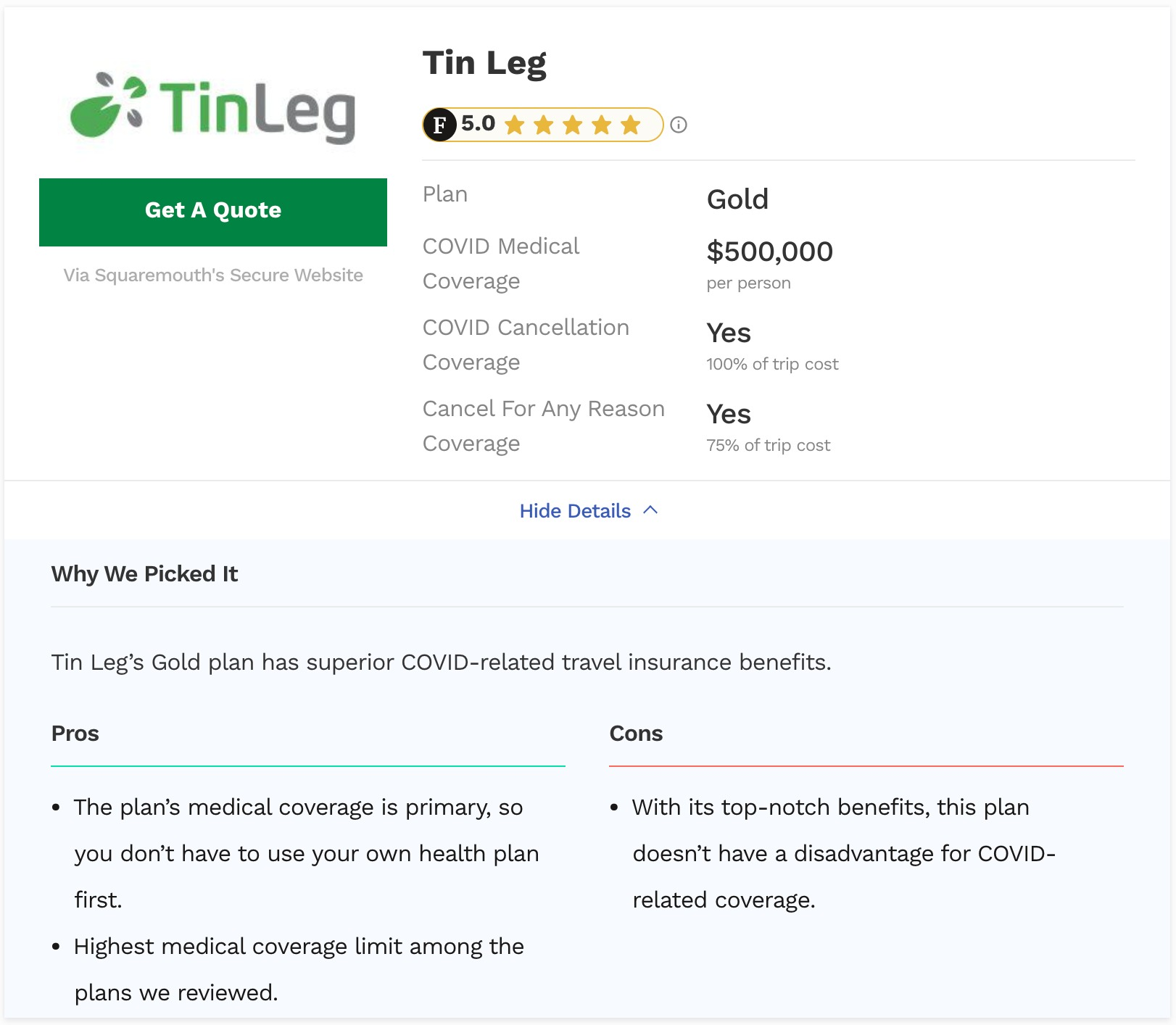 Best Pandemic Travel Insurance Tinleg Gold