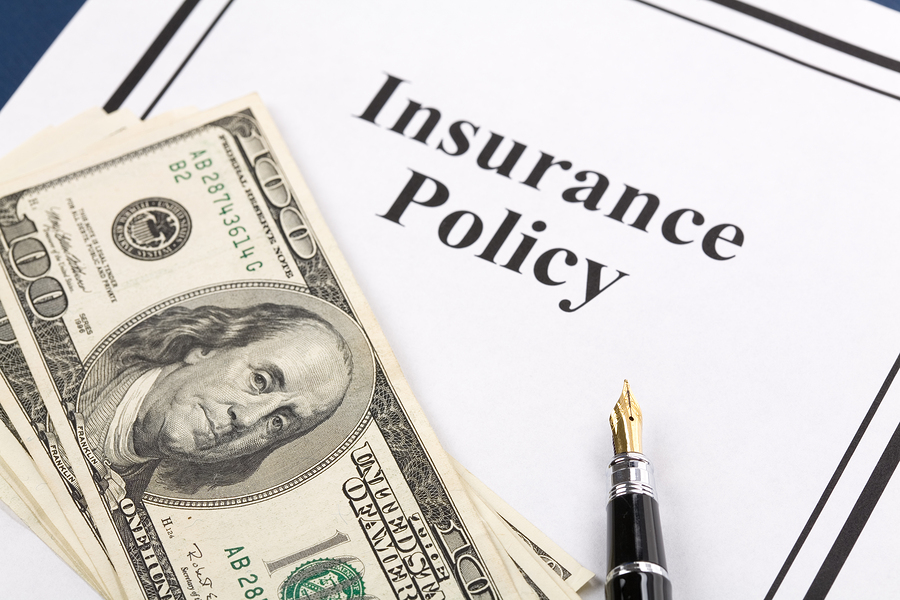Travel insurance policy and cash