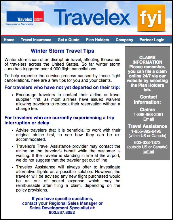travelex northeast blizzard